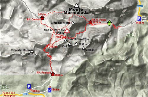 Sasso Vernale map