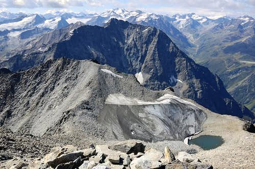 Puitkogel and Mittelberg from Hohe Geige