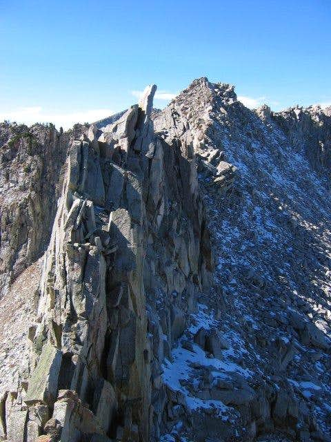 A portion of the ridge during...