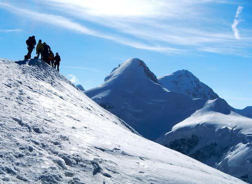 Climbers At Pollux Summit