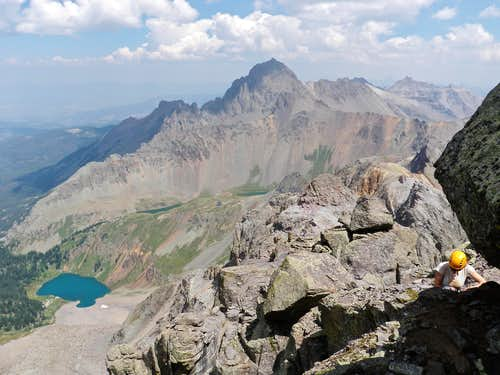 Mount Sneffels and Blue Lakes
