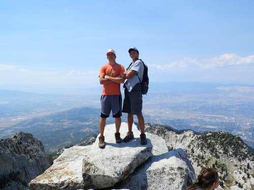 On The Summit Of Lone Peak