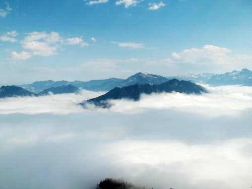 Mountains above the clouds