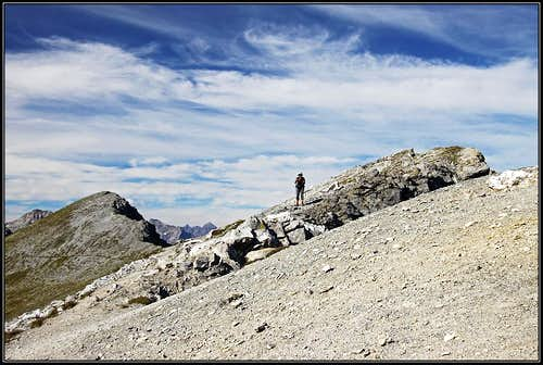 Towards the highest summit of Piz Lad