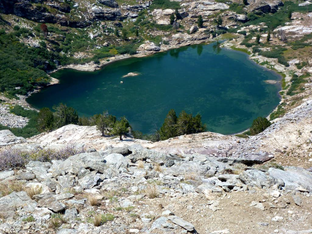 Looking down on Griswold Lake