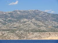 Velebit range from the Pag ferry terminal