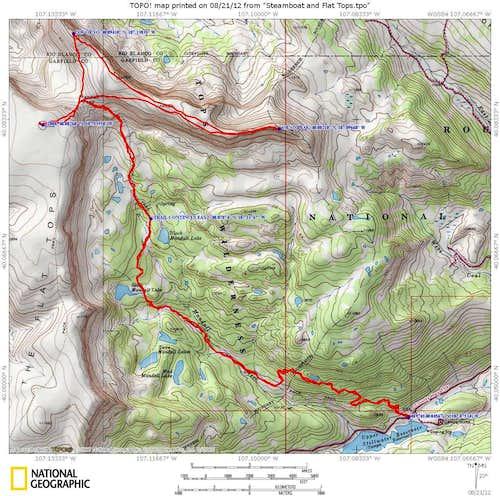 3 peak loop from Mandall Pass