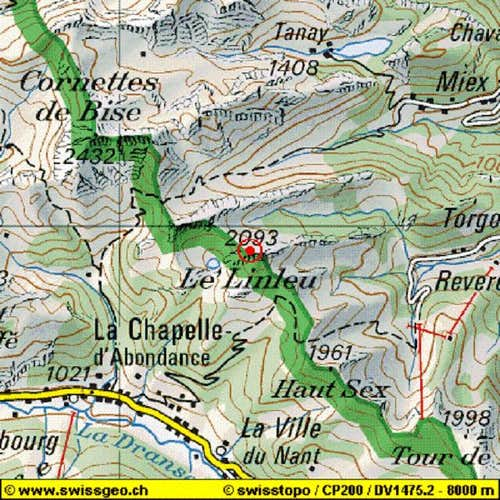 Mount Linleu, map