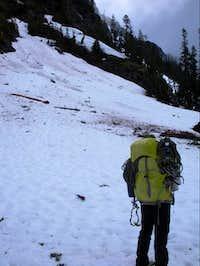 Debris field along Shuksan Arm