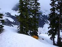 Camp above Lake Anne