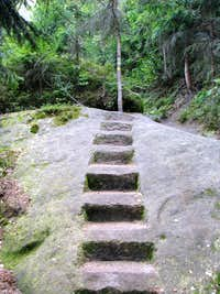 Stairway on  Trail