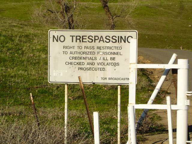 The sign at the paved road...
