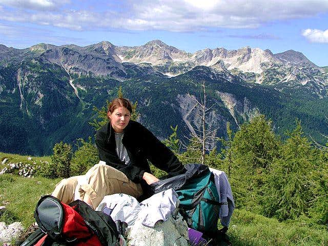On the summit of Prsivec....