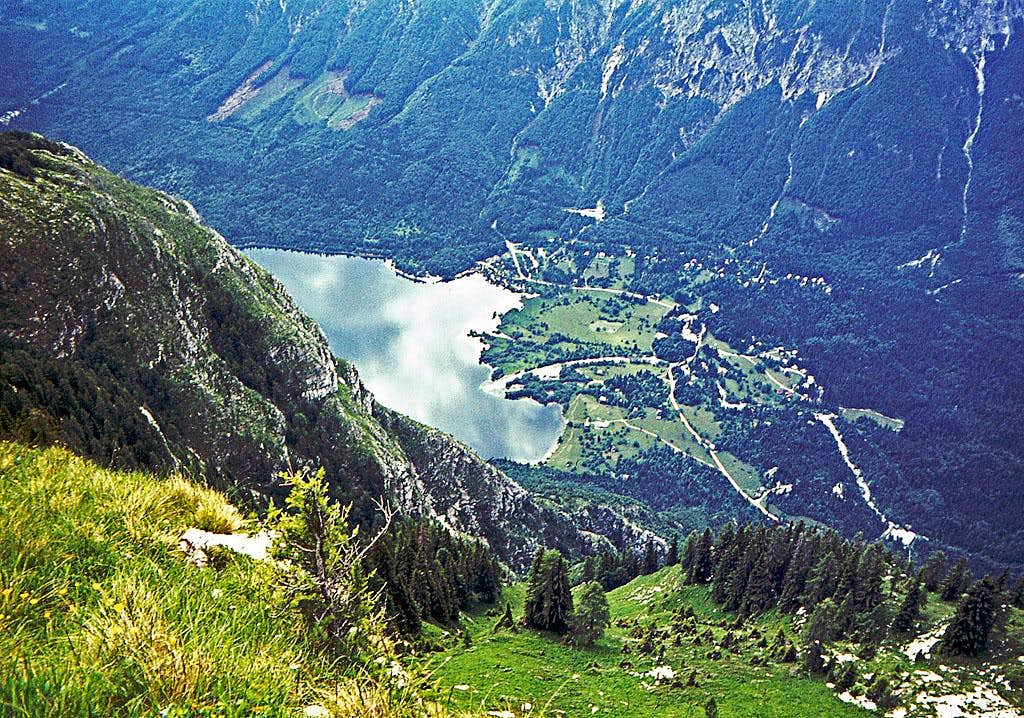 Bohinj lake from the summit...