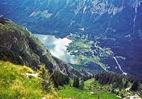 Bohinj lake from the summit...