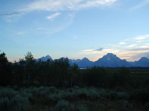Grand Teton and Mount Moran