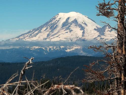 Closeup of Rainier from the true summit
