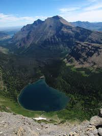 Rising Wolf Mountain and Oldman Lake
