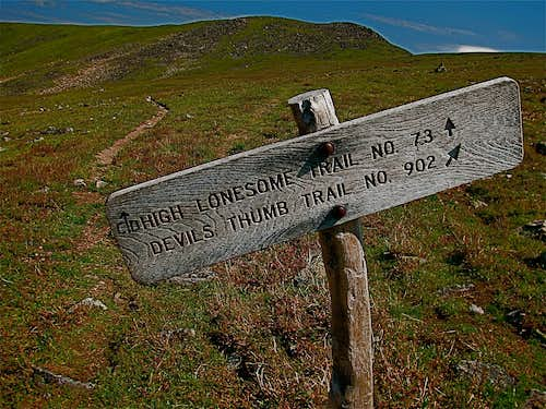 High Lonesome Trail Sign
