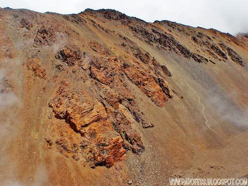 Cerro Adolfo Calle from ascent on Stepanek