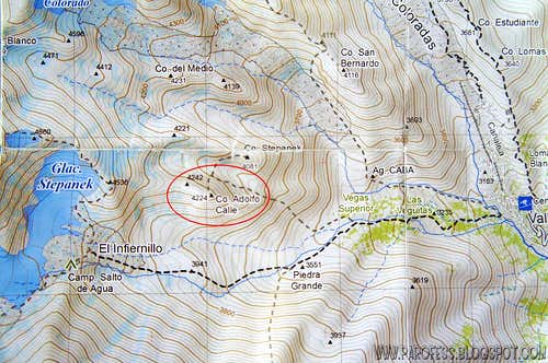 Map of Cordon Del Plata