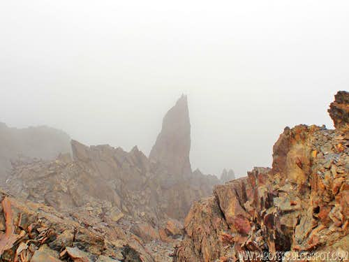 Cool spire on my way down from the summit