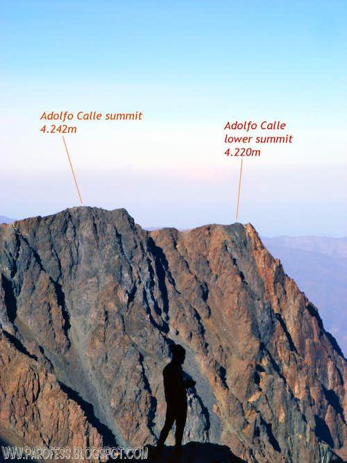 Adolfo Calle info view.