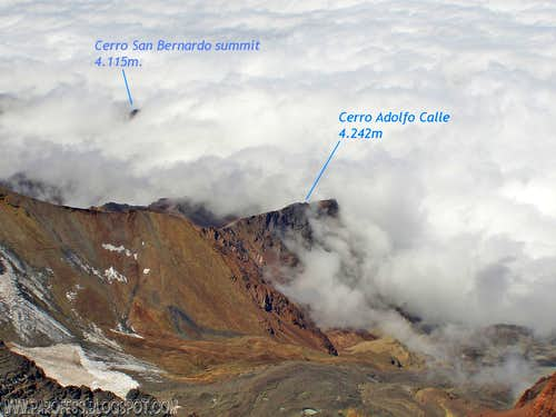Adolfo Calle as seen from Vallecitos summit (with labels)
