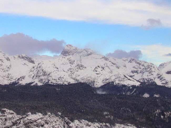 Triglav from the skiing area...