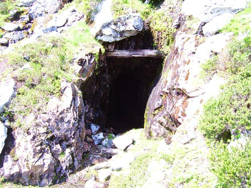 Mine shaft on Sheep Gap Mountain
