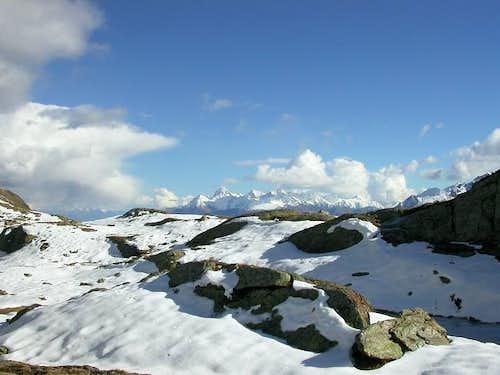Il gruppo del monte Emilius...