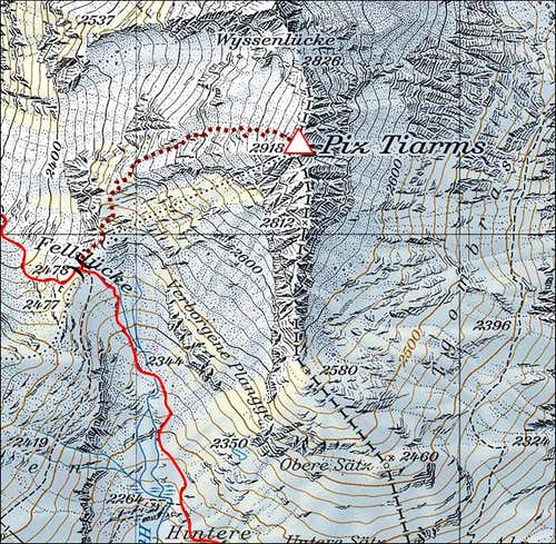 Piz Tiarms map