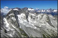 From Piz Tiarms towards the W-NW
