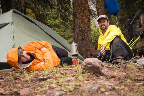 Finally at base-camp, time to rest.
