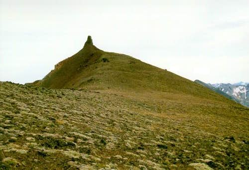 The north ridge of Twin Peaks...