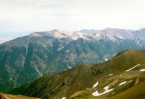 Chief Joseph Mountain (left)...