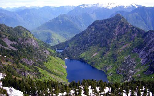 Greider Lakes from Static Peak