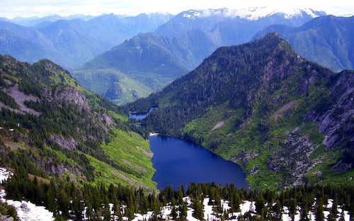 Greider Lakes from Static Peak