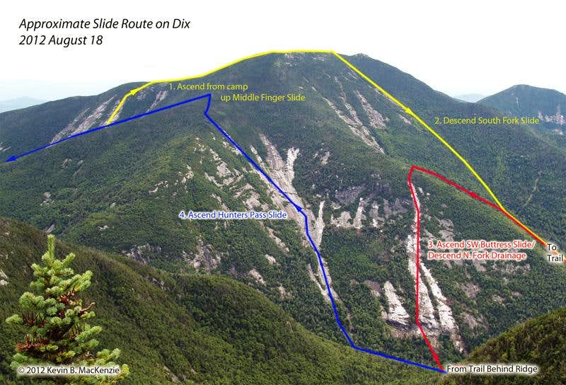 Adirondack Slide Climbs by Mountain