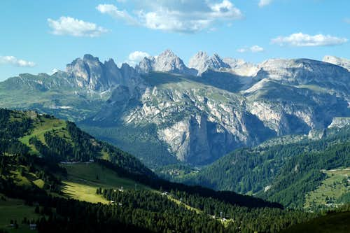 Val Gardena and Geisler group from Passo Sella
