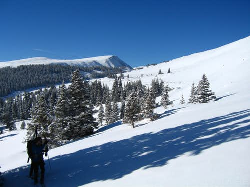 Approaching Loveland Mountain