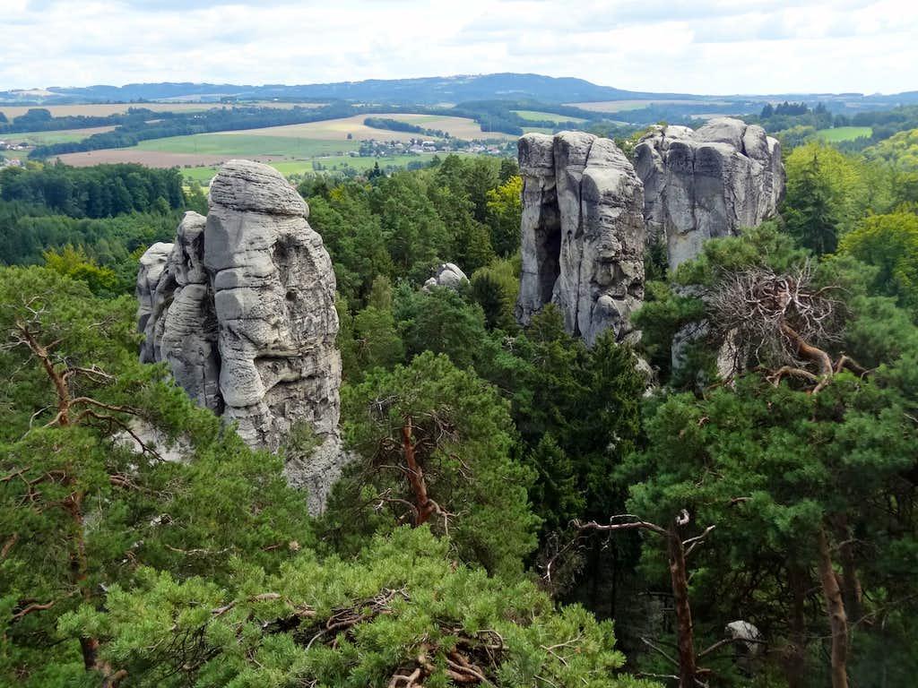 Views from Mariánská vyhlídka