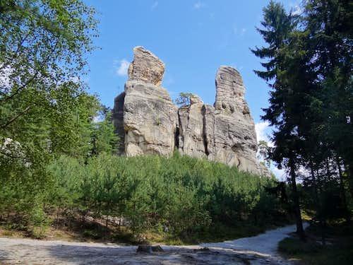 Rocks of Hruboskalsko