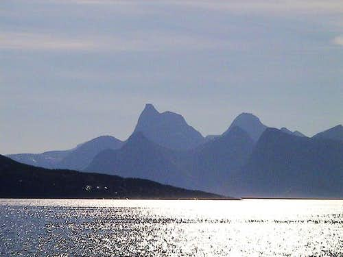 Distant view of Stetind in...