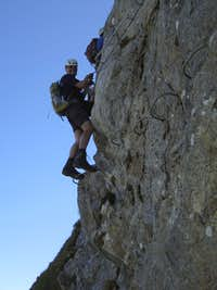 Yours truly starting the diagonal traverse