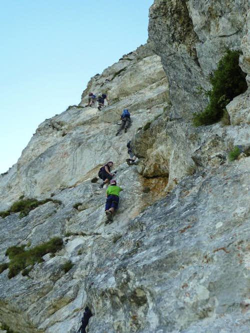 On the diagonal traverse