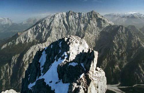 View of the Watzmann ridge...