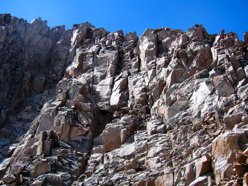Granite Peak upper wall