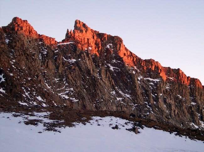 Alpenglow on Peak 11977 (aka....