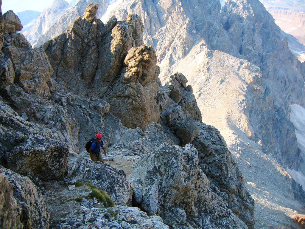 Scrambling to the Upper Saddle